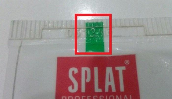 Маркировка зубной пасты цветными полосками