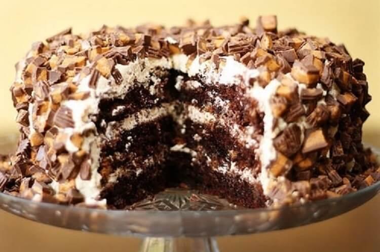 Сникерс торт в домашних условиях 870