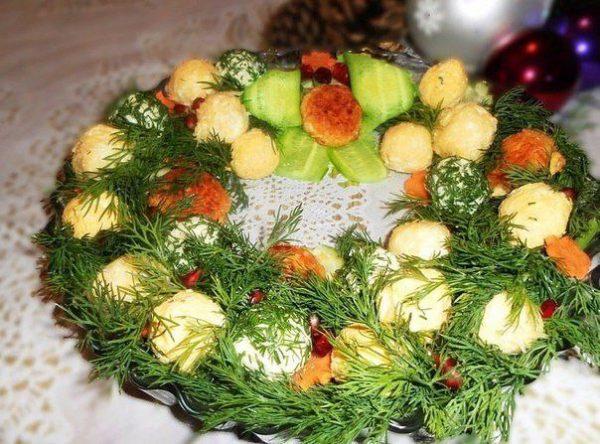 Закуска «Новогодний венок»