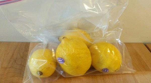 Правильное хранение лимонов