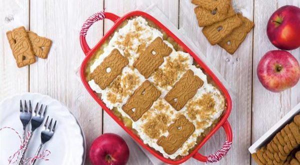 Десерт из яблок и печенья