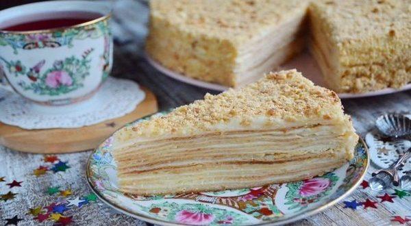 Торт «Наполеон» классический (из домашнего теста)