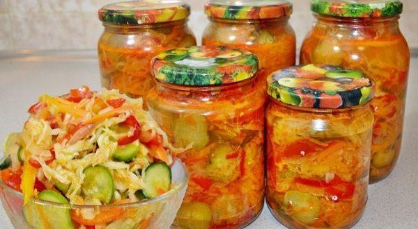 Улетный салат на зиму «Кубанский» с капустой и огурцами – полюбите сразу!