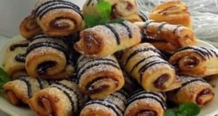 Быстрое творожное печенье - рулетики