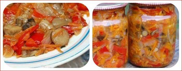 Салат зимний с грибами