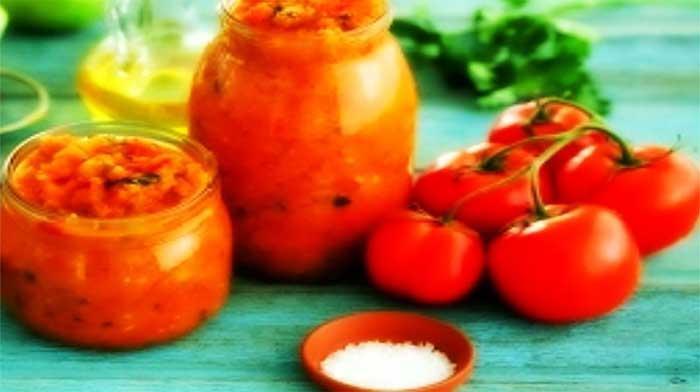 Салат из помидоров, баклажанов и перца